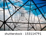 power tower in the sky... | Shutterstock . vector #153114791