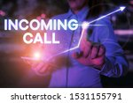 Small photo of Conceptual hand writing showing Incoming Call. Business photo text Inbound Received Caller ID Telephone Voicemail Vidcall.