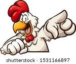 happy cartoon chicken pointing... | Shutterstock .eps vector #1531166897