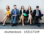 business people waiting for job ... | Shutterstock . vector #153117149