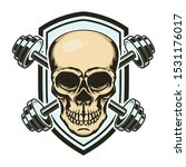 sport emblem with skull and... | Shutterstock .eps vector #1531176017