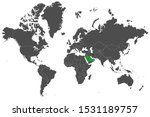 gcc countries highlighted green ... | Shutterstock .eps vector #1531189757