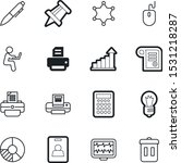 office vector icon set such as  ...