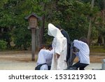 Stock photo scenery of the shinto style wedding ceremony in japan 1531219301