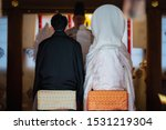 Stock photo scenery of the shinto style wedding ceremony in japan 1531219304