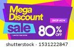 80 off mega discount  sales...   Shutterstock .eps vector #1531222847