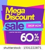 60 off mega discount  sales... | Shutterstock .eps vector #1531222871