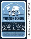 plane landing on runway of...   Shutterstock .eps vector #1531239284