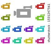 video camera multi color icon....