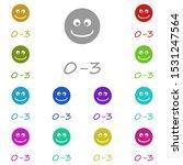 age 0 3 multi color icon....
