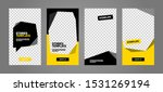 set of minimalistic stories for ...   Shutterstock .eps vector #1531269194