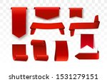 red blank price tags  labels or ... | Shutterstock .eps vector #1531279151