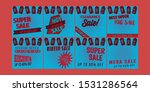 set of sale banners for post | Shutterstock .eps vector #1531286564