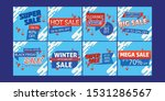 set of sale banners to post | Shutterstock .eps vector #1531286567