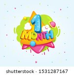 1 month baby color symbol.... | Shutterstock .eps vector #1531287167