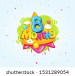 8 months baby color symbol.... | Shutterstock .eps vector #1531289054