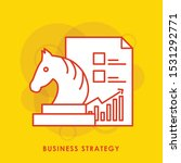 business strategy. chess knight ...