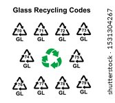 Glass Recycling Codes Vector...