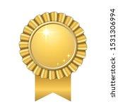 award ribbon gold icon. golden... | Shutterstock . vector #1531306994