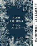 christmas botanical card....   Shutterstock .eps vector #1531335644