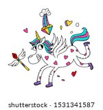 illustration of a magic unicorn.... | Shutterstock . vector #1531341587