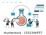 formulas in coding and... | Shutterstock .eps vector #1531346957