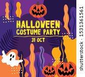 halloween card for party in... | Shutterstock .eps vector #1531361561