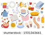 hygge autumn set  collection of ... | Shutterstock .eps vector #1531363661