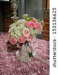 image of a bride's wedding... | Shutterstock . vector #153136625