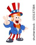 Happy And Cute Uncle Sam