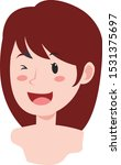 funny and cute beautiful girl... | Shutterstock .eps vector #1531375697