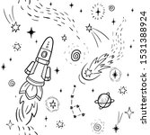 hand drawn space banner... | Shutterstock .eps vector #1531388924