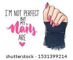 vector beautiful woman hands...   Shutterstock .eps vector #1531399214
