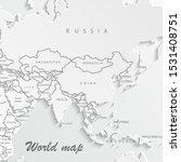 world map paper. political map...   Shutterstock .eps vector #1531408751