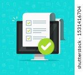 survey checklist form or... | Shutterstock .eps vector #1531416704
