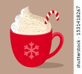hot chocolate with christmas... | Shutterstock .eps vector #1531418267