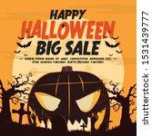 happy halloween big sale.... | Shutterstock .eps vector #1531439777