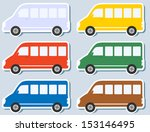 set of colorful stickers with... | Shutterstock . vector #153146495
