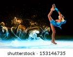 little girl figure skating at... | Shutterstock . vector #153146735