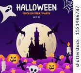 happy halloween party... | Shutterstock .eps vector #1531486787