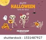 vintage halloween poster design ... | Shutterstock .eps vector #1531487927