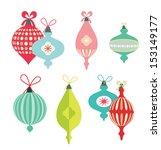 set of vintage christmas balls. ... | Shutterstock .eps vector #153149177