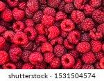 Fresh Raspberries Background...