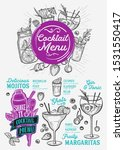 cocktail menu template for...   Shutterstock .eps vector #1531550417