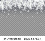 border with white fir branches... | Shutterstock .eps vector #1531557614