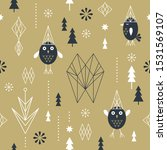 seamless christmas pattern with ... | Shutterstock .eps vector #1531569107
