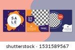 set of editable square banner... | Shutterstock .eps vector #1531589567