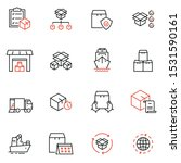 vector set of linear icons... | Shutterstock .eps vector #1531590161