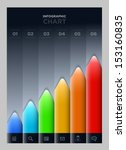 vector colorful graph.... | Shutterstock .eps vector #153160835