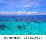 Seascape On A Sunny Day At...